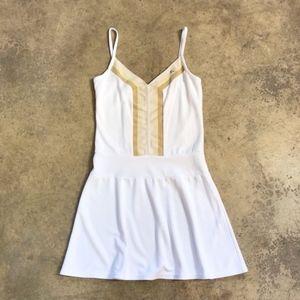 Lacoste France Monochromatic White Tennis Dress